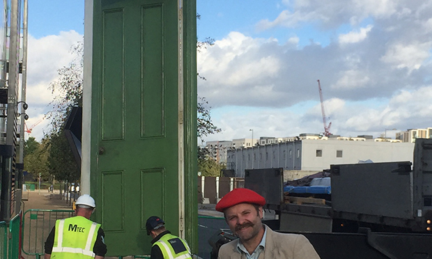 Door to d'Or: Gavin Turk unveils new public sculpture in Hackney Wick